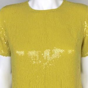 DVF yellow sequin top